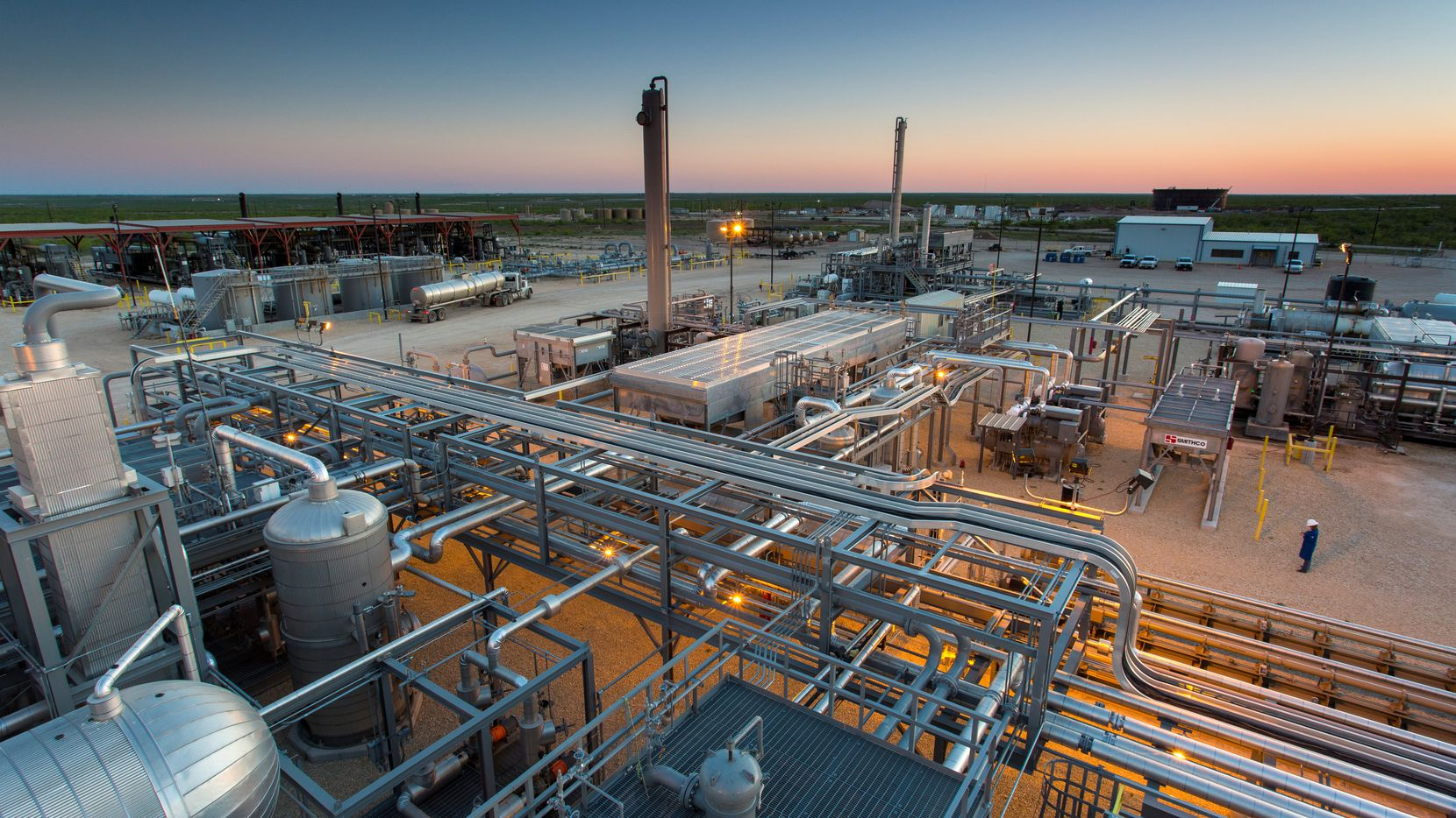 EnLink Midstream's Deadwood plant in the Permian Basin of West Texas.