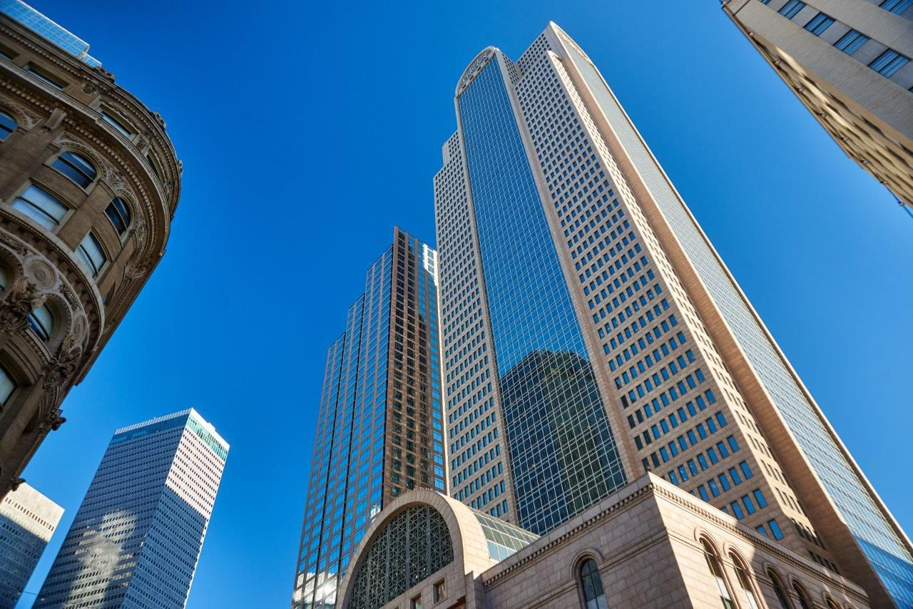 The 60-story Comerica Bank Tower opened in 1987.
