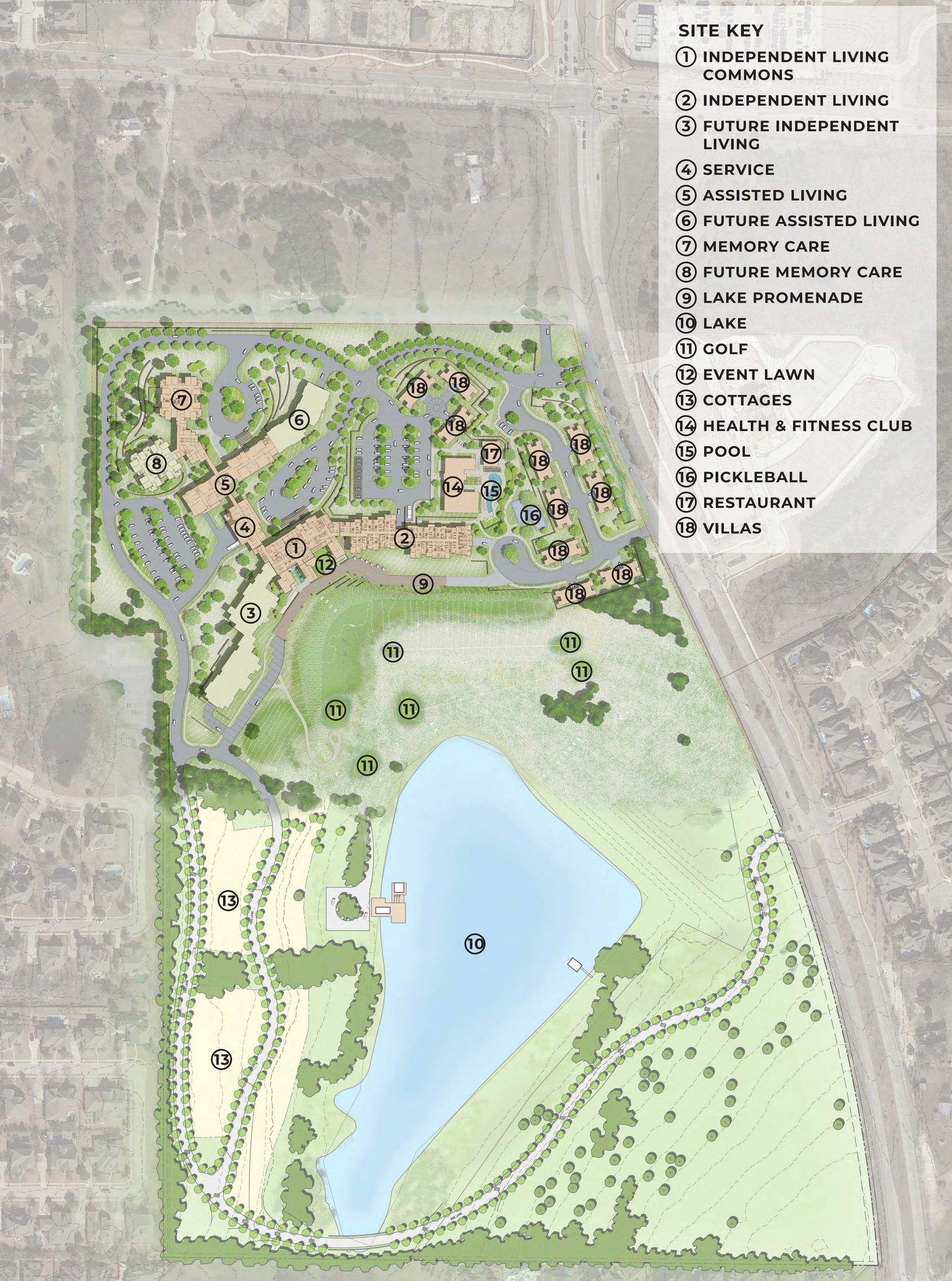 Touchmark's new Emerald Lake community in McKinney will have 390 homes.