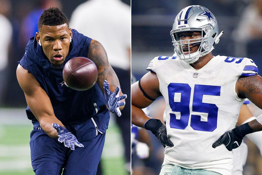 Pictured above: Wide receiver Terrance Williams (left) and defensive lineman David Irving.