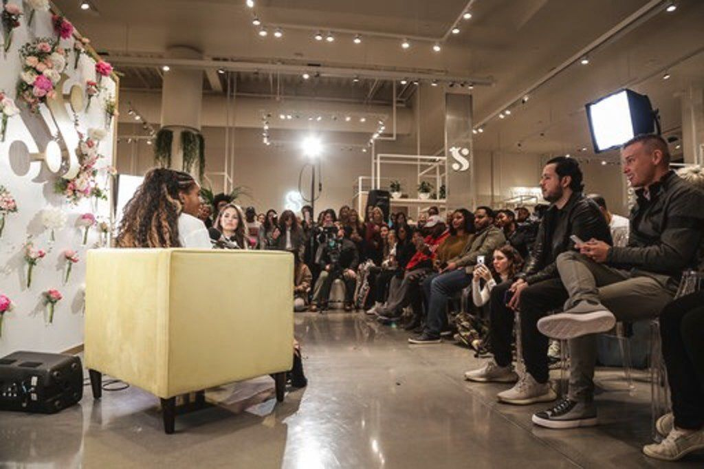 """Serena Williams hosts the launch event of her Great Collection at Neighborhood Goods. She was joined by Ashley Graham, who recorded her podcast, """"Pretty Big Deal,"""" live with Williams and a store full of fans."""