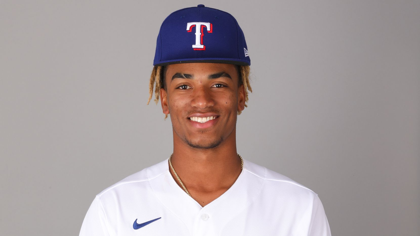 3/9/2020 — Ronny Henriquez of the Texas Rangers poses for a photo on March 9, 2020.