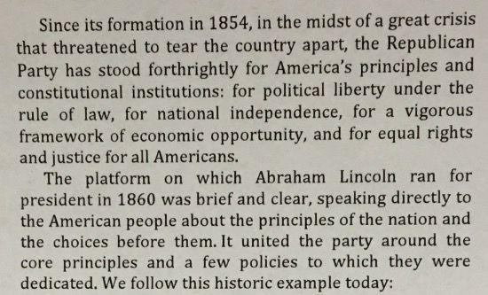 """Boyd Matheson's proposal includes this language as an introduction. It is titled """"Republican Platform: We Hold these Truths to be Self Evident, Cleveland July 2016"""""""