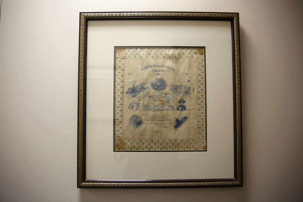 A handkerchief from the State Fair of Texas in 1886.