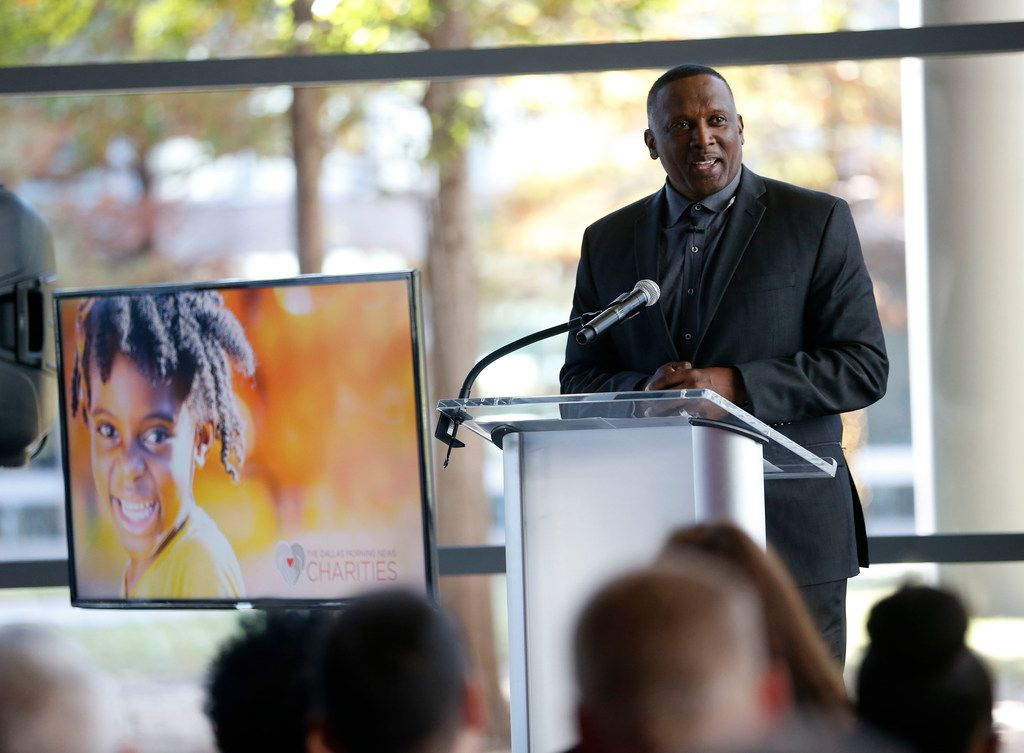 """I said at 19 years old, if I ever get into a position to help, I want to make it happen,"" said Tim Brown, the former NFL great who is this year's honorary chairman of The Dallas Morning News Charities campaign."