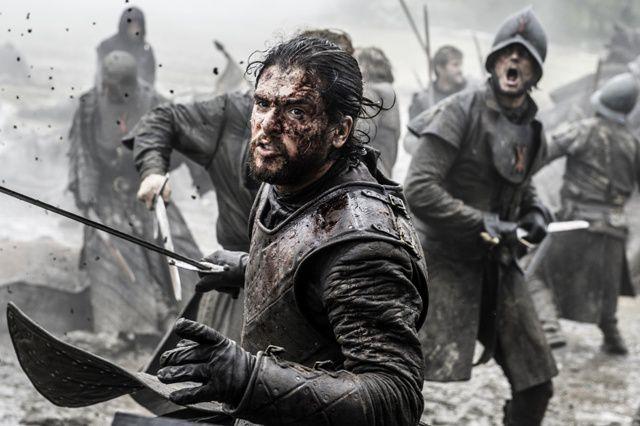 Jon Snow en plena batalla.