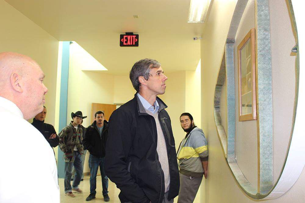 Beto O'Rourke visits Mesalands Community College in Tucumcari, N.M., on Jan. 15, 2019. Photo courtesy Brandon Smith.