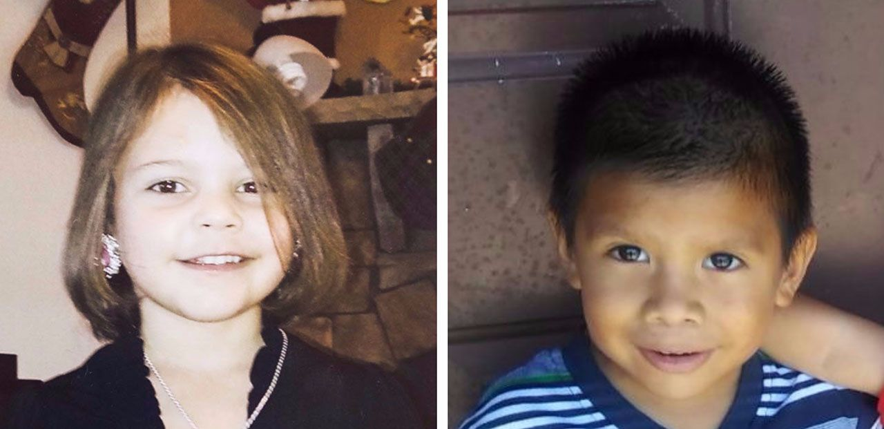 Leiliana Wright (left) and Darwin Delgado were both 4 years old when they died more than a year apart. They are among 103 children who have died from abuse or neglect in Child Protective Services' fiscal 2016 operating year despite having open cases or histories with the agency.