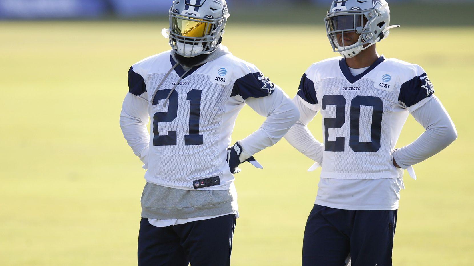 Los corredores de los Cowboys de Dallas, Ezekiel Elliott (21) y Tony Pollard (20), forman una de las mejores parejas de acarreadores de balón en la NFL.