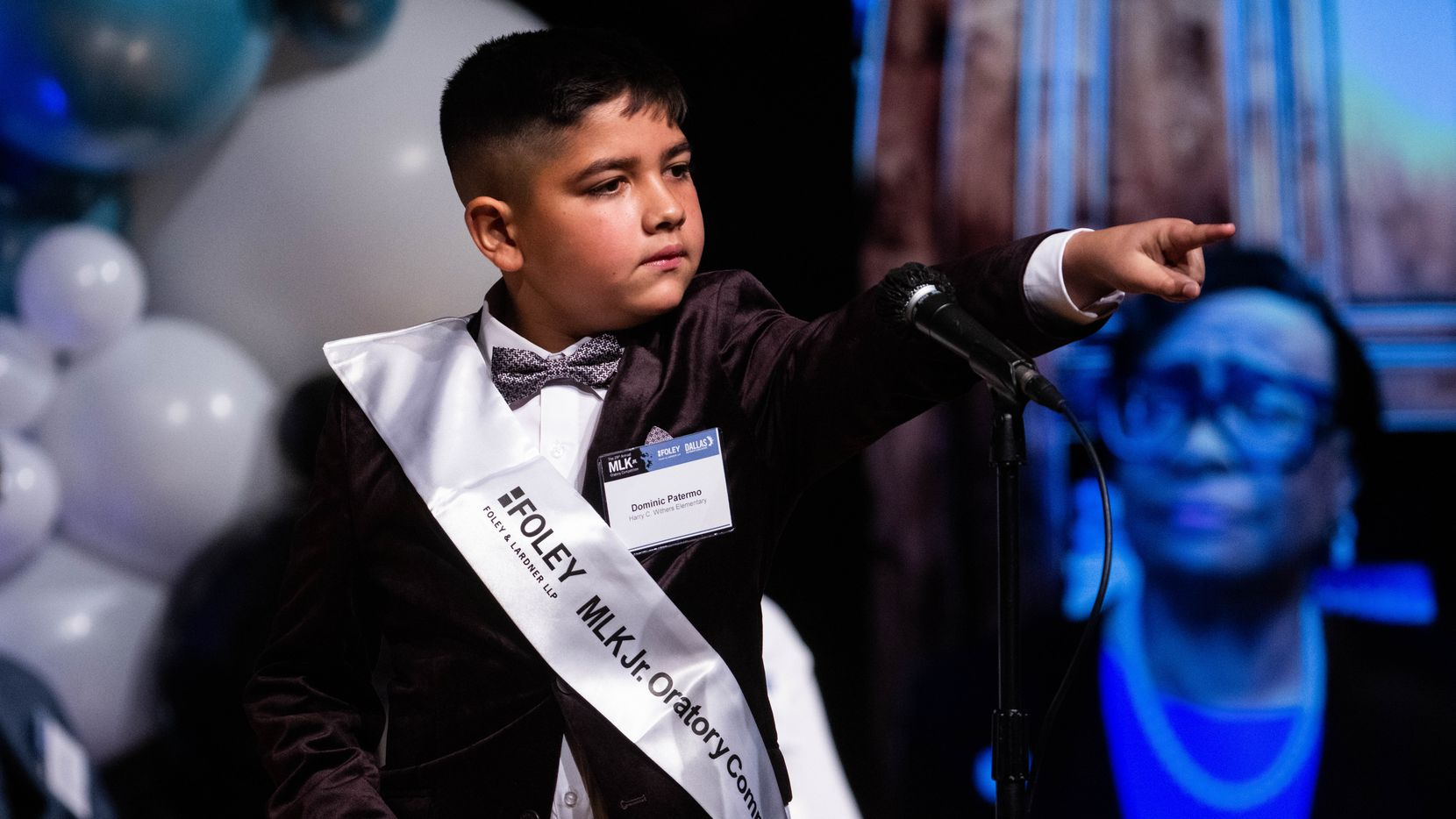 Dominic Patermo, 11, a Harry C. Withers Elementary fifth grader won first place during the 29th annual MLK Jr. Oratory Competition at W.H. Adamson High School on Friday, Jan. 14, 2020.