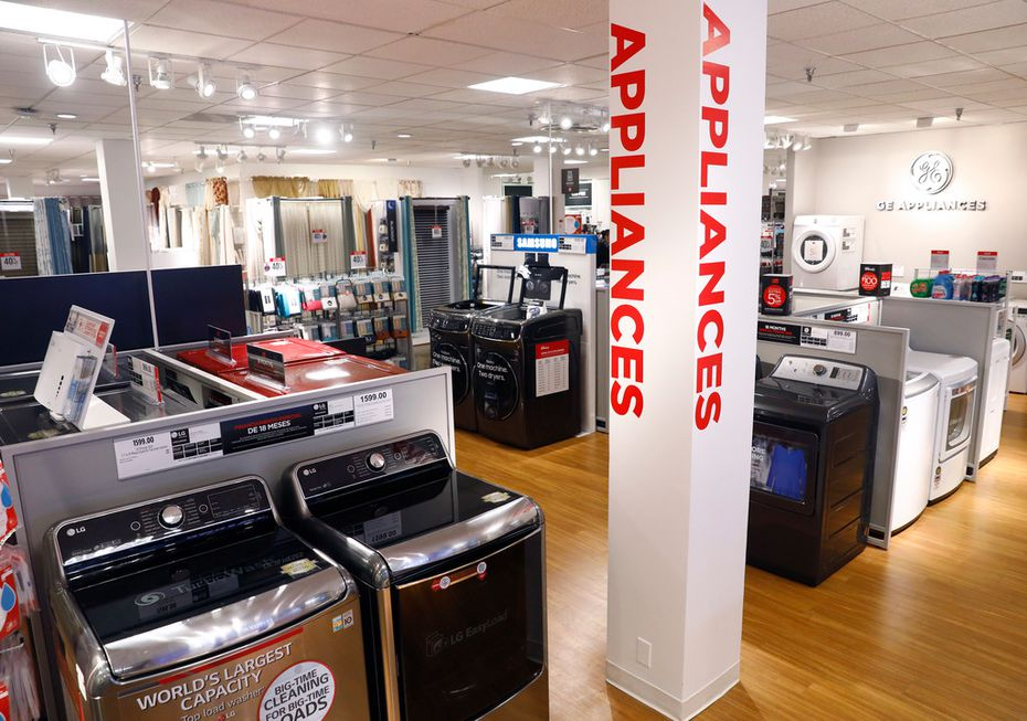 Appliances at the J.C. Penney in Collin Creek Mall in Plano, Texas, in March, 2018.