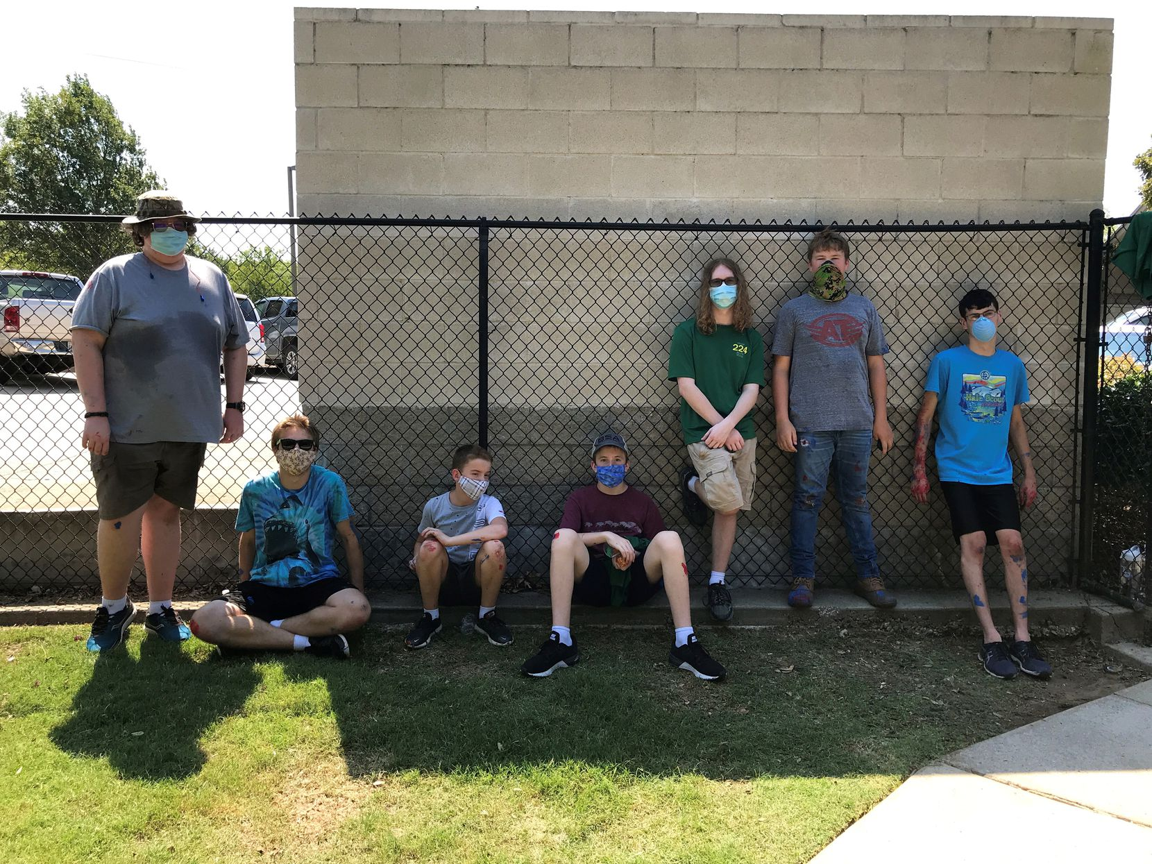Eagle Scout Troop 24  renovated the benches outside of Allen Animal Shelter for Clear the Shelters week.