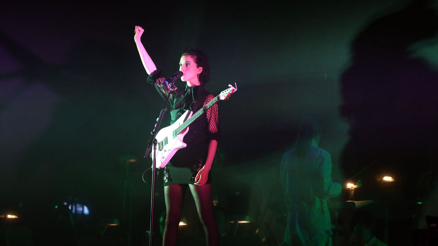 St. Vincent performs with the Dallas Symphony Orchestra at the Winspear Opera House in Dallas, Texas, Thursday, May 17, 2015. (Allison Slomowitz/ Special Contributor)