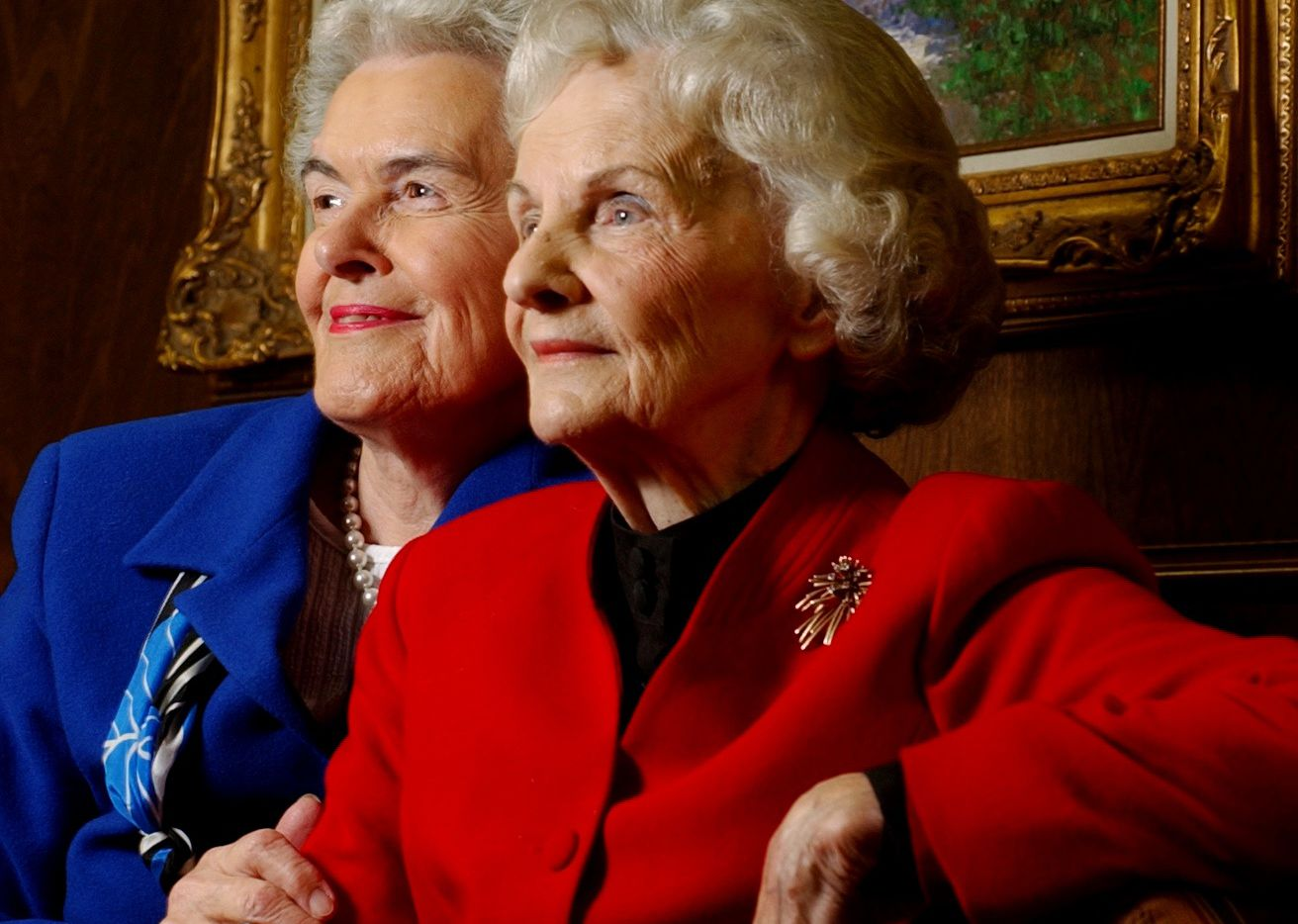 """Writer Vivian A. Castleberry, left, wrote """"Texas Tornado,"""" the biography of family law attorney Louise B. Raggio, right, a trailblazer in women's rights and issues in Dallas for several decades."""