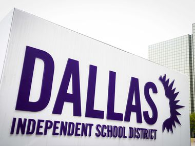 Exterior view of the Dallas ISD Administration Building on Monday, April 6, 2020, in Dallas.