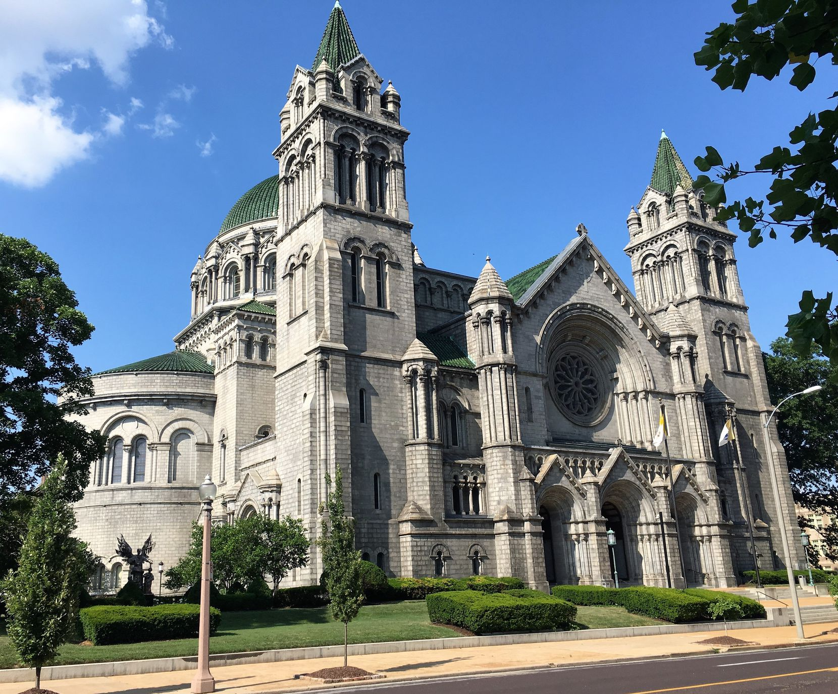 The massive Cathedral Basilica of St. Louis, a.k.a. St. Louis Cathedral,