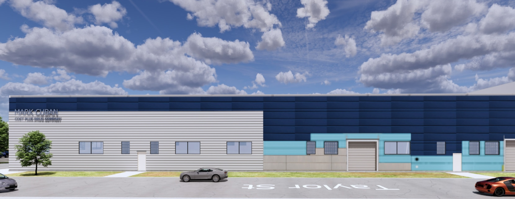A rendering of the Mark Cuban Cost Plus Drug Company pharmaceutical facility planned to be completed by 2022.