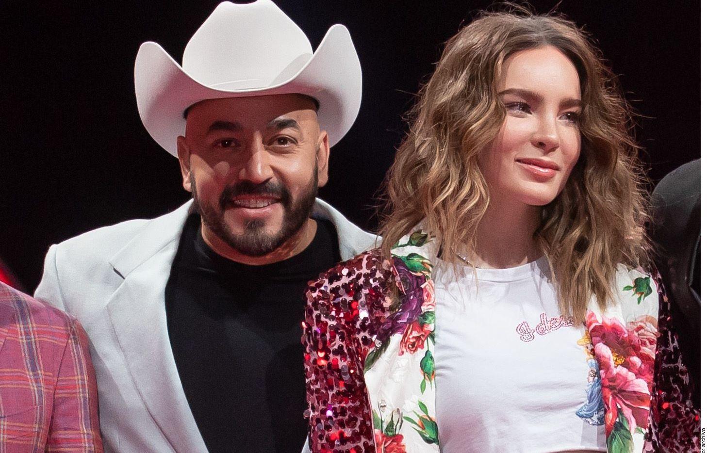 Lupillo Rivera y Belinda se conocieron en el programa La Voz.