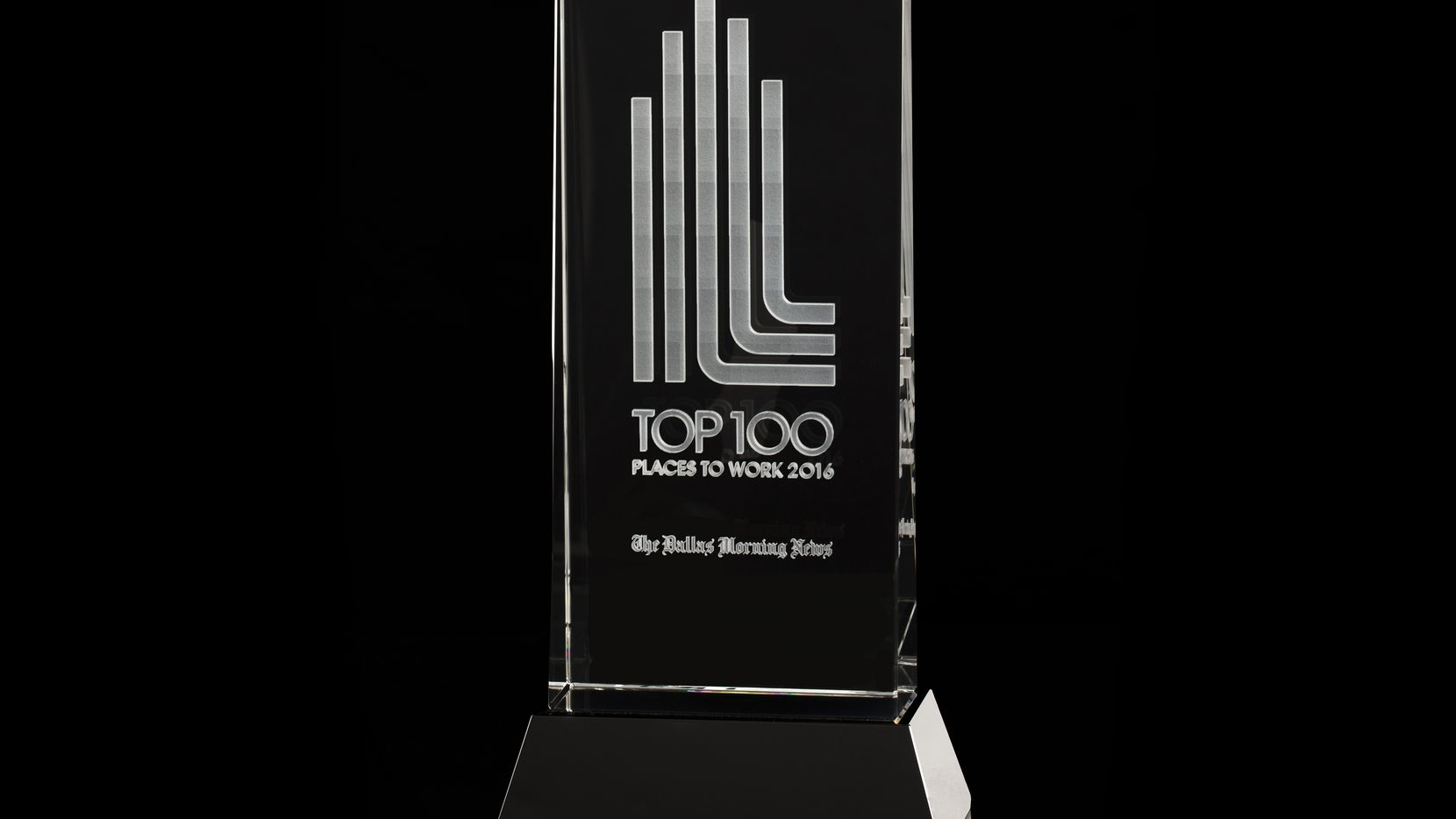 The Top 100 Places to Work trophy for 2016