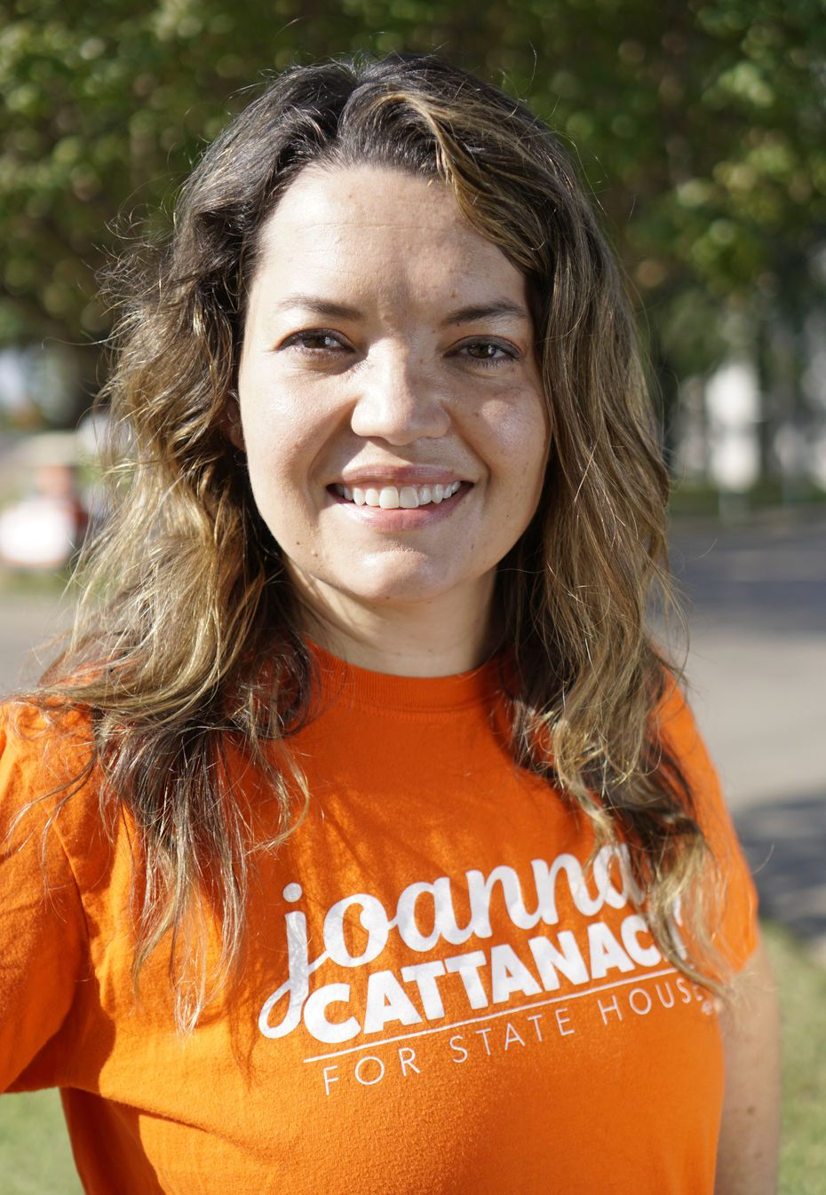 Joanna Cattanach at her outdoor office in Dallas, Texas on Saturday, October 10, 2020.   (Lawrence Jenkins/Special Contributor)