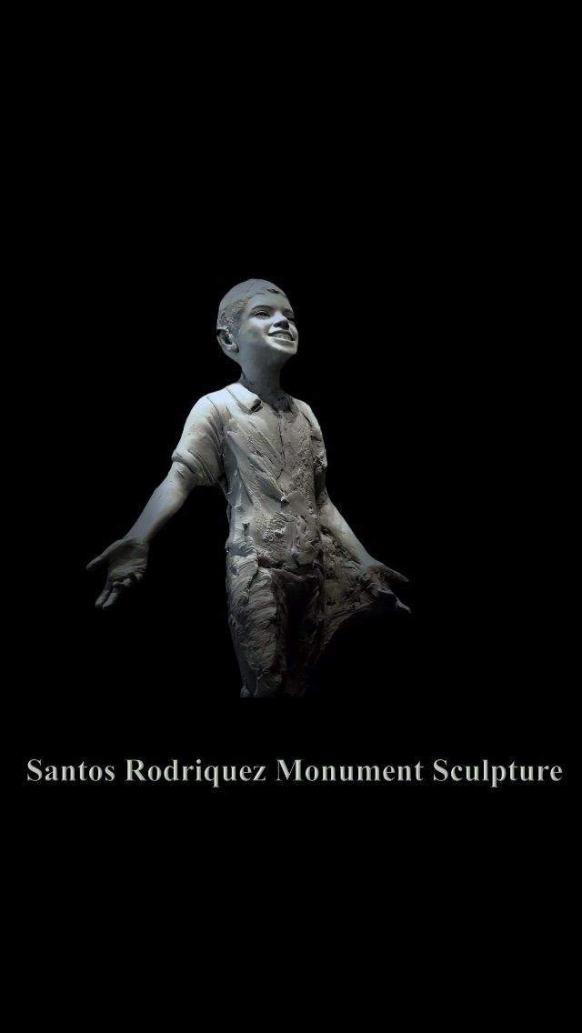 Clay mock-up of the Santos Rodriguez statue by sculptor Seth Vandable