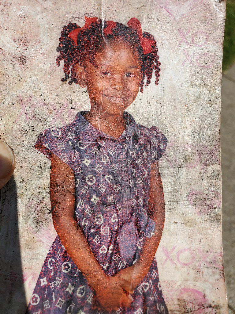 A photo of 9-year-old Brandoniya Bennett. She was killed when someone fired into an apartment in Old East Dallas in a gang-related shooting, police say.