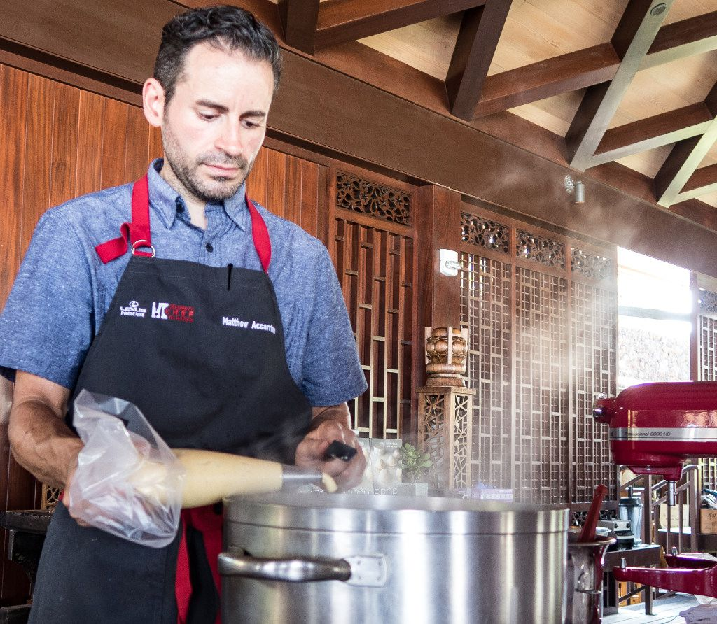 San Francisco chef Matthew Accarrino led a hands-on cooking class at the 2016 Chef Fest.