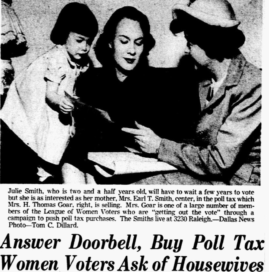 From the Jan. 27, 1949 edition of The Dallas Morning News