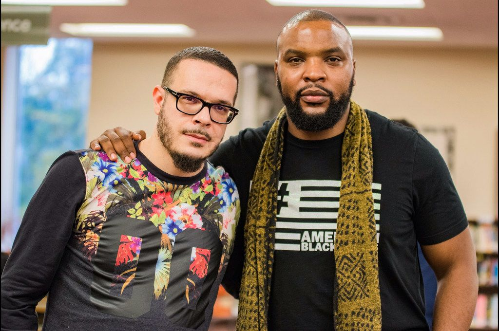 Lee Merritt (right) and his college friend Shaun King, an influential writer and Black Lives Matter activist,  partner on cases, with King drawing huge attention and Merritt helping victims' families.