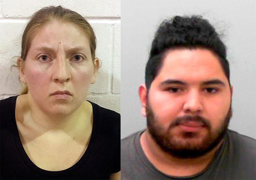 Sarah Rashelle Almaguer y Christopher Almaguer, ambos 27, fueron sentenciados a 60 años de cárcel cada uno por explotación sexual de menores. (Office of the Attorney General of Texas via AP)