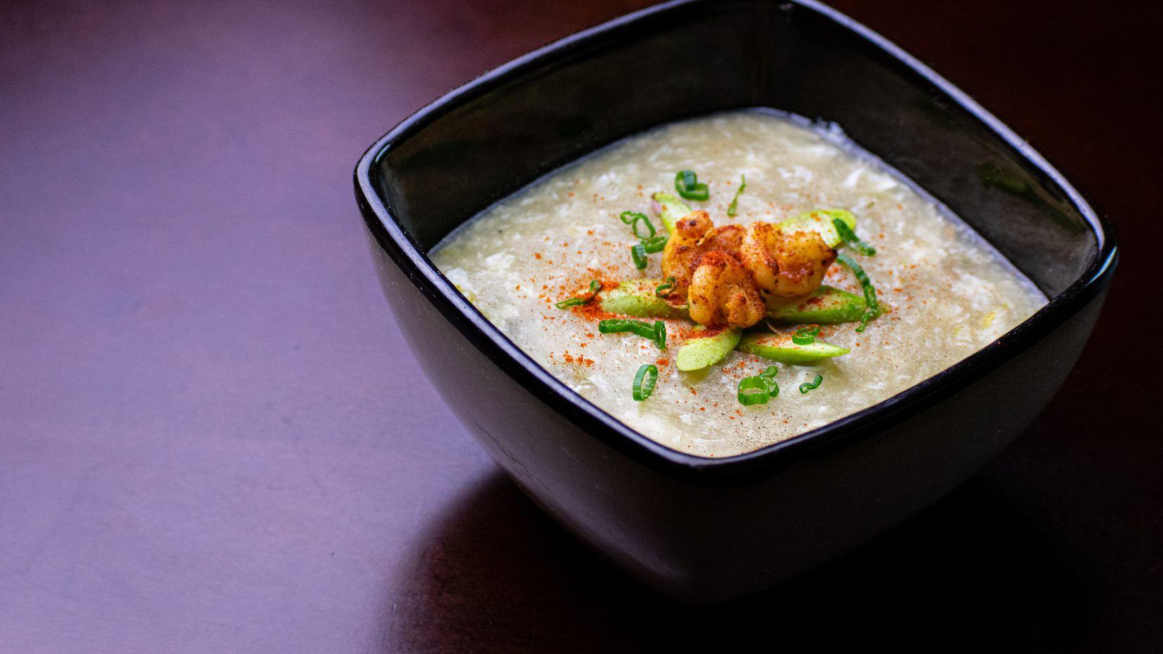 Shrimp Asparagus Soup at Krio by Connie Cheng