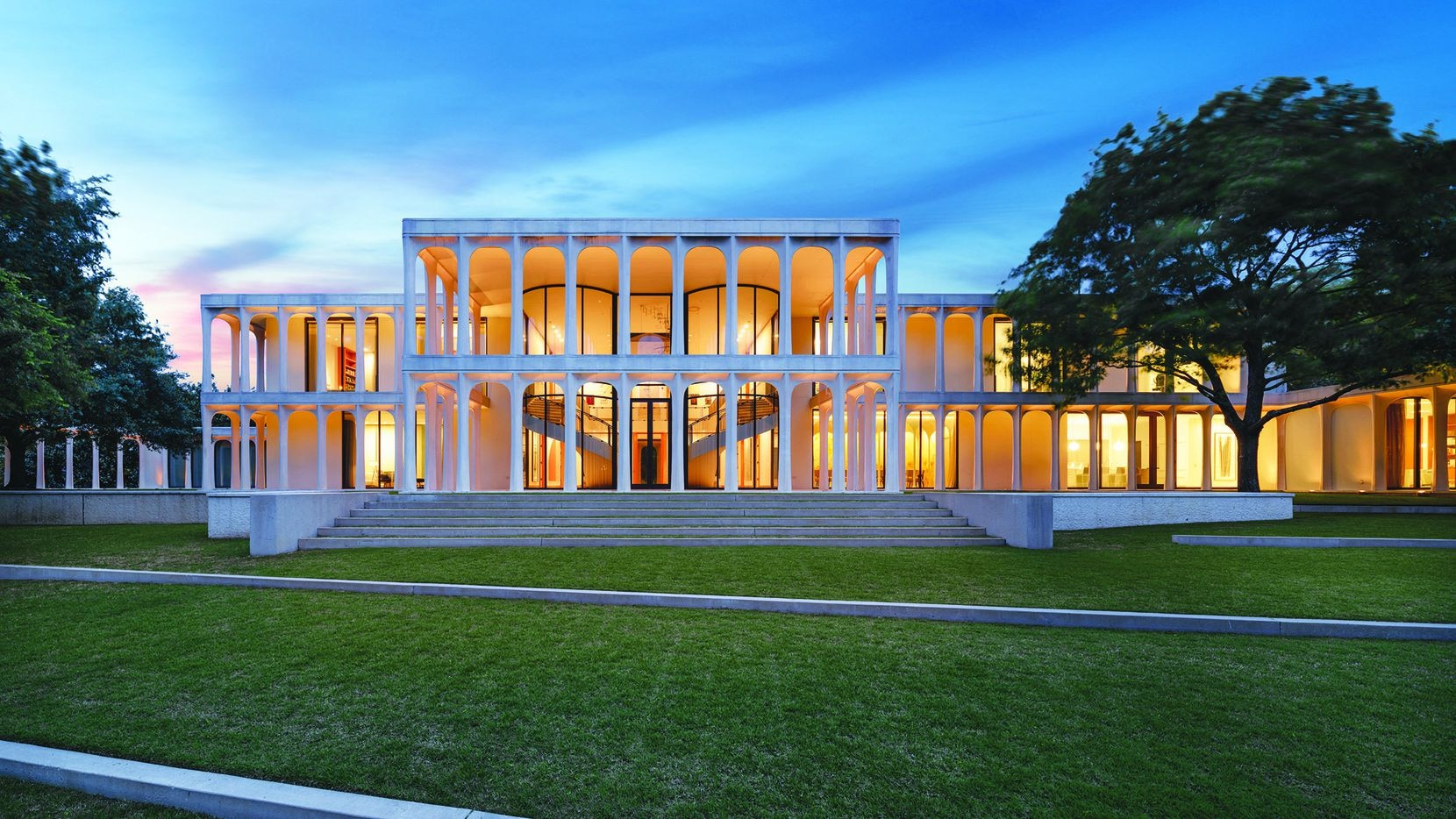 The estate at 10210 Strait Lane in Dallas, designed by Philip Johnson, was listed for $19.5 million and sold by Briggs Freeman Sotheby's International Realty in a busy 2020.