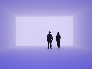 """James Turrell's Ganzfeld """"Aural"""" is a 2018 work designed to foster a unique experience for each viewer."""
