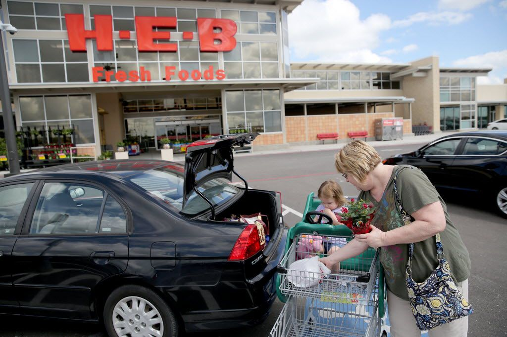 Shirley Varnell, with granddaughter Izzy Audish, says she shops at H-E-B in Pearland for the fresh bakery items.