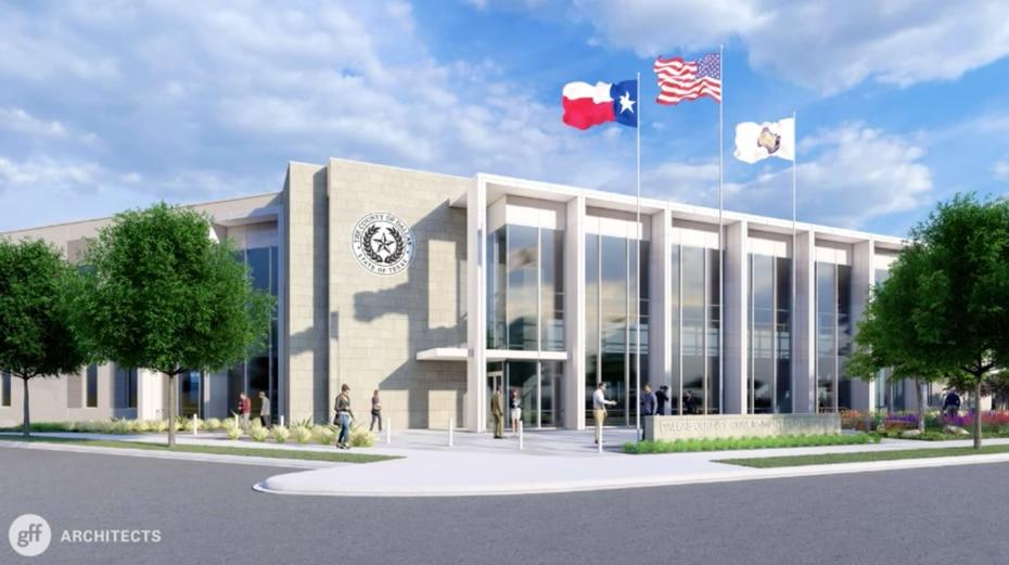 El nuevo Centro de Gobierno en Oak Cliff será un edificio de dos pisos y tendrá un estacionamiento para 240 vehículos. Estará terminado en octubre del 2021.