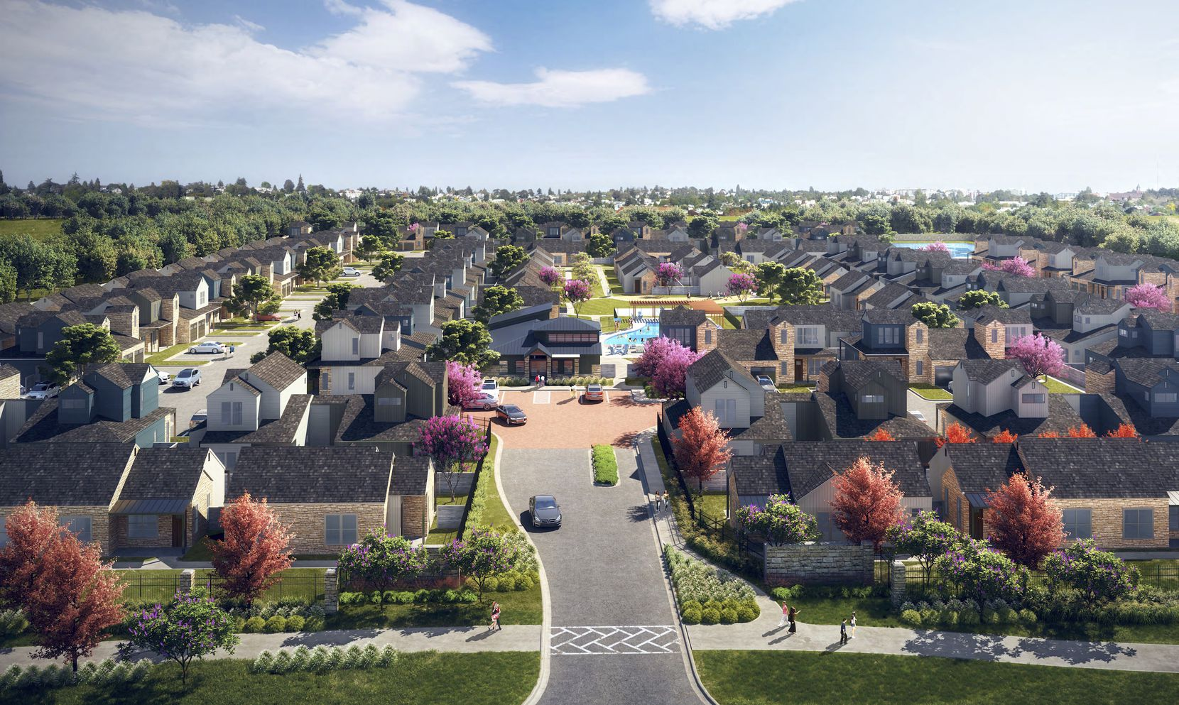 Developer Provident Realty Advisors' new Celina community will include 185 single-family home style rental units.
