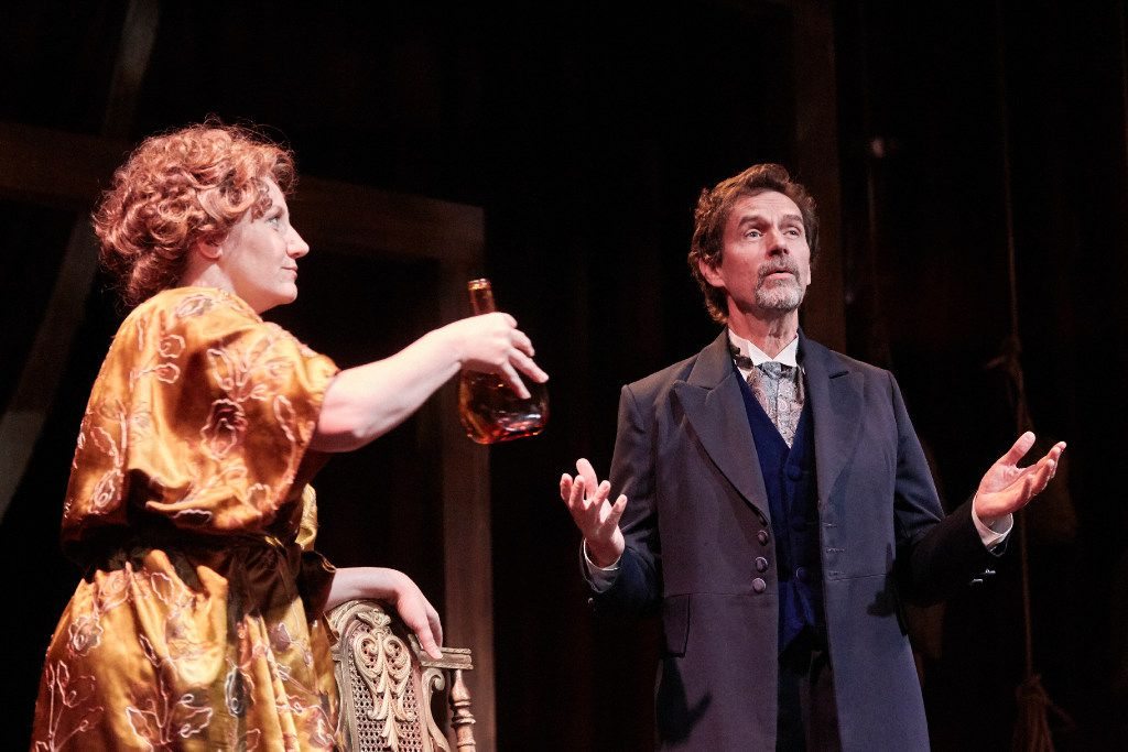Jennifer Kuenzer and John Kuether play Desiree and Fredrik in A Little Night Music at Theatre Three in Dallas.