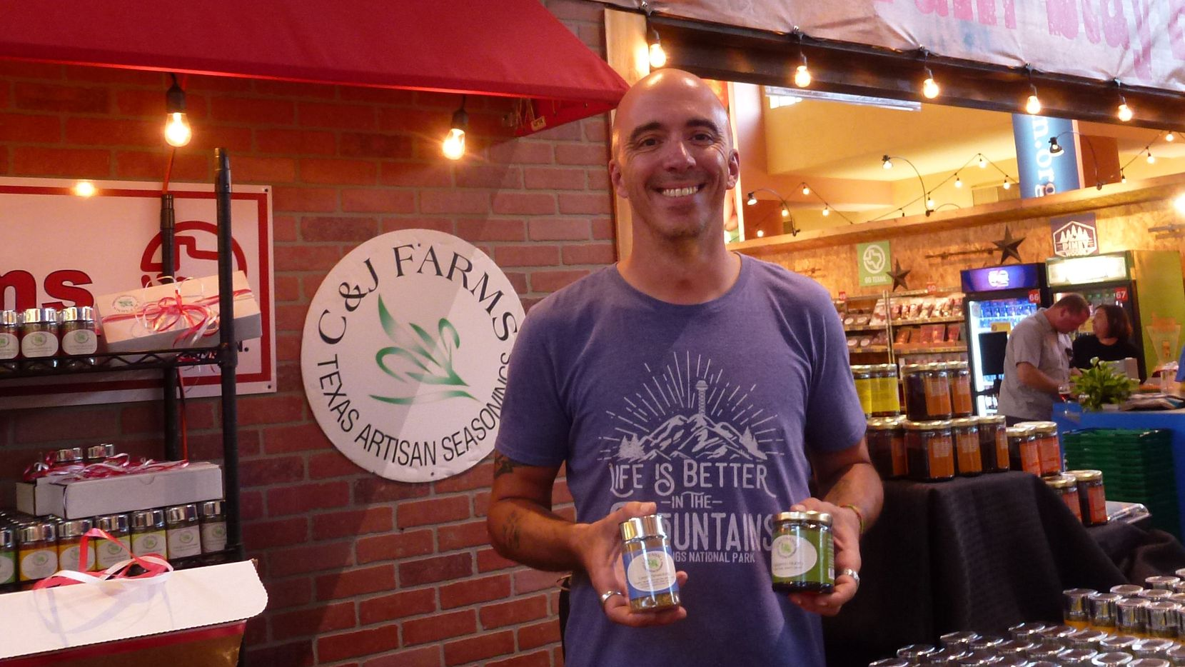Matthew Tyler helped out at his family's C&J Farms Texas Artisan Seasonings booth at the State Fair of Texas in 2018.