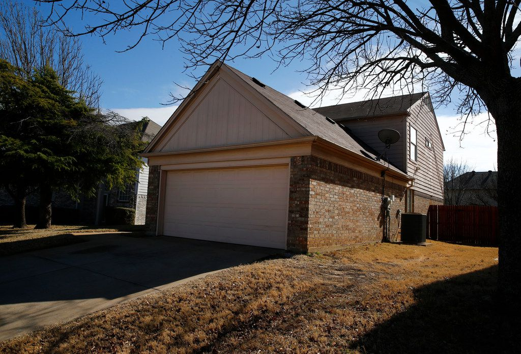 The former home of David and Louise Turpin in Fort Worth on Friday.