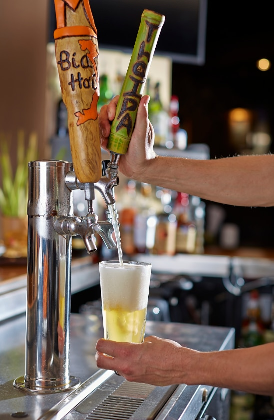Malai Kitchen brews its own Asian-style beers, which are inspired by owners Braden and Yasmin Wages travels through Southeast Asia.