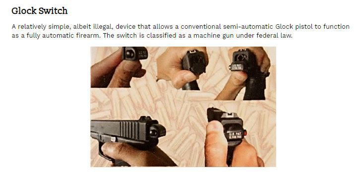Illegal Glock switch
