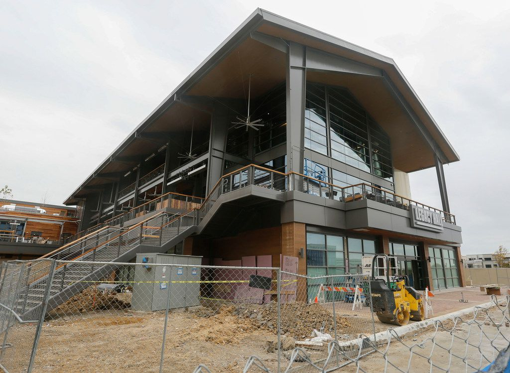 The Legacy Hall food hall is under construction at 7800 Windrose Ave. in the Legacy West development in Plano.