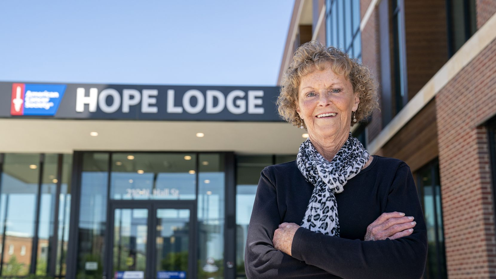 Rose Riley, who drives from Lawton, Okla., to Dallas for treatment at UT Southwestern, was the first person to stay at Hope Lodge.