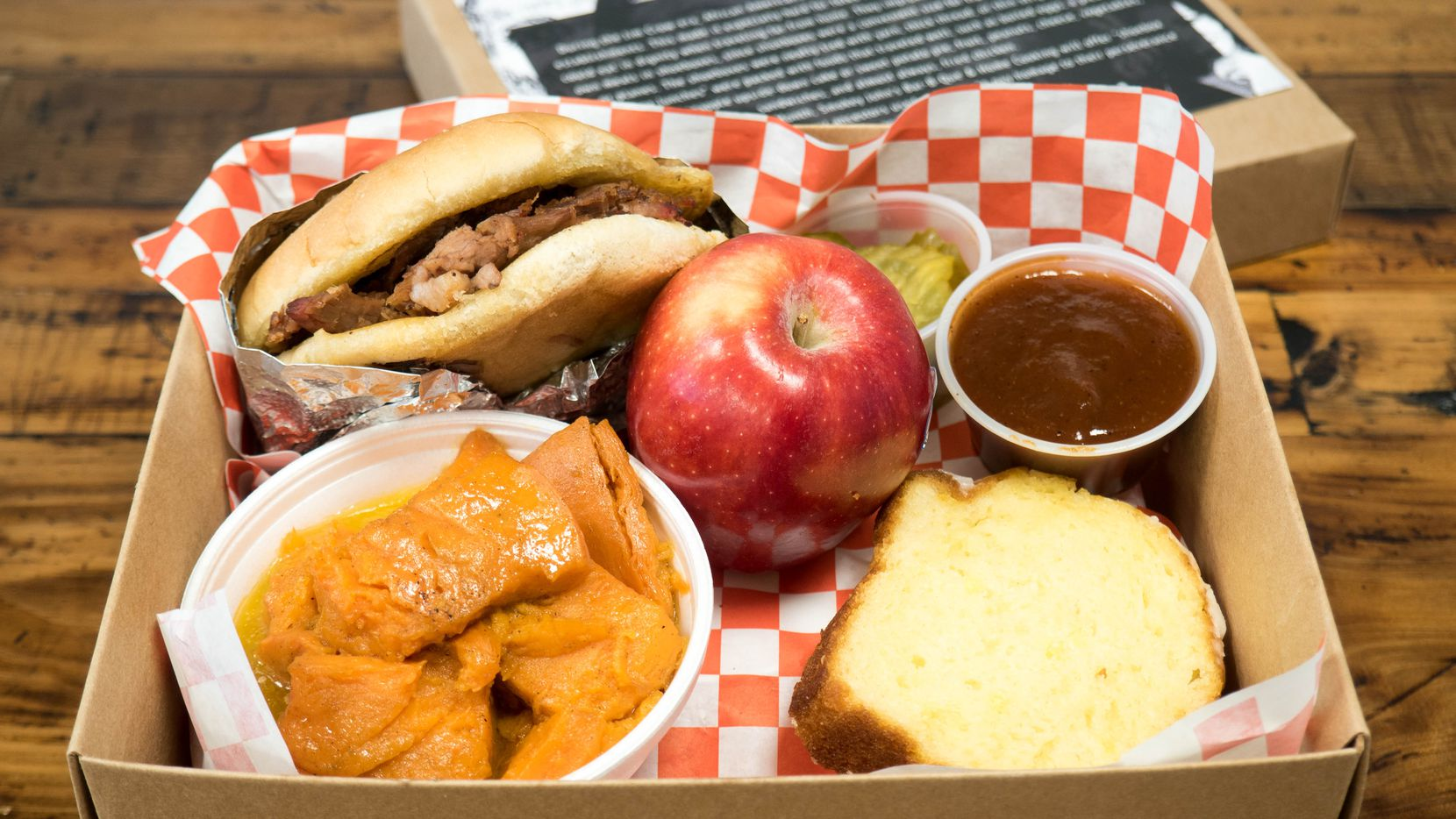 Smokey John's Bar-B-Que is selling shoebox lunches for $10.50 during the month of February, Black History Month.