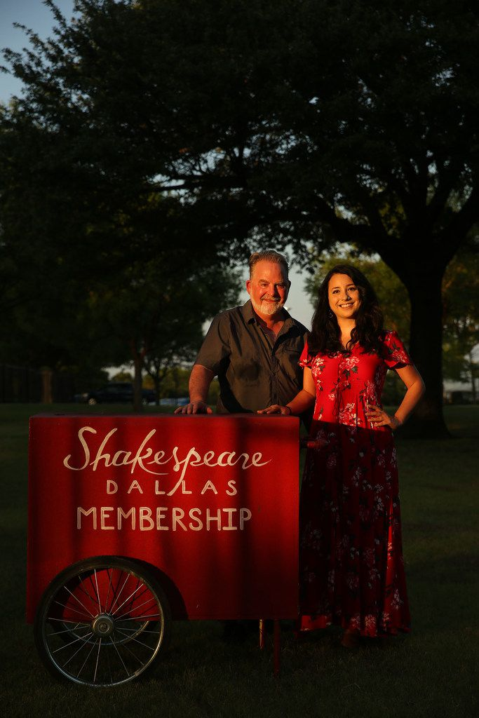 Raphael Parry, director of The Comedy of Errors and the executive and artistic director of Shakespeare Dallas, and Jenni Stewart,  the company's new associate artistic director.