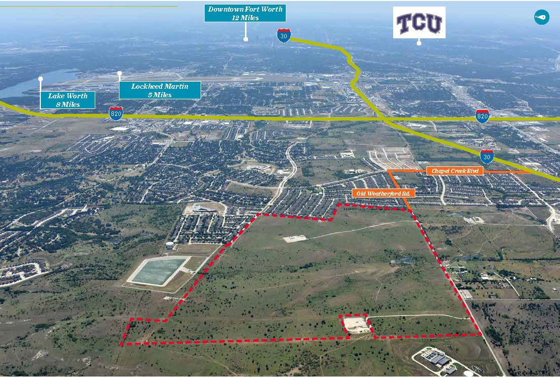 The development site is in West Fort Worth near the intersection of Interstates 820 and 30.