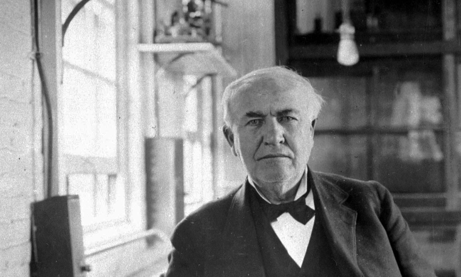 Thomas Alva Edison helped bring about modern society with his innovations such as the incandescent light bulb.