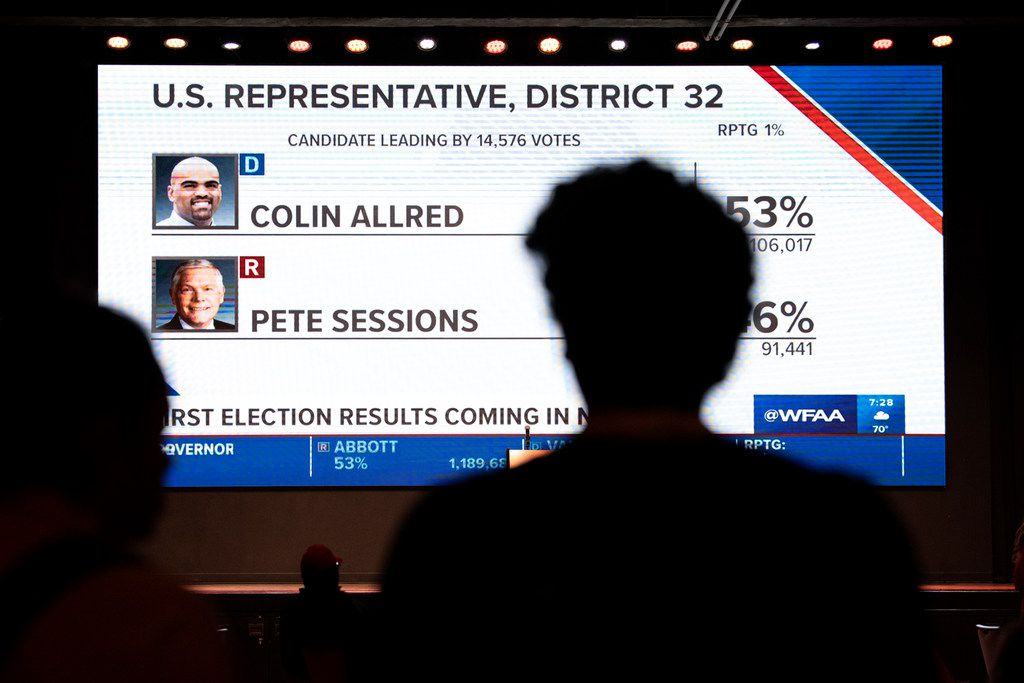 The battle between Pete Sessions and Colin Allred was one of the marquee House races in the U.S. (AP Photo/Jeffrey McWhorter)