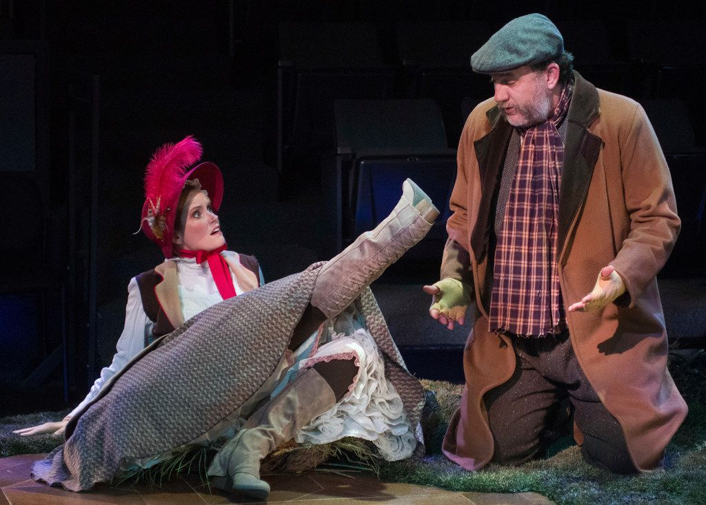 Felicia Bertch and Thomas Ward in The Moors at Theatre Three.