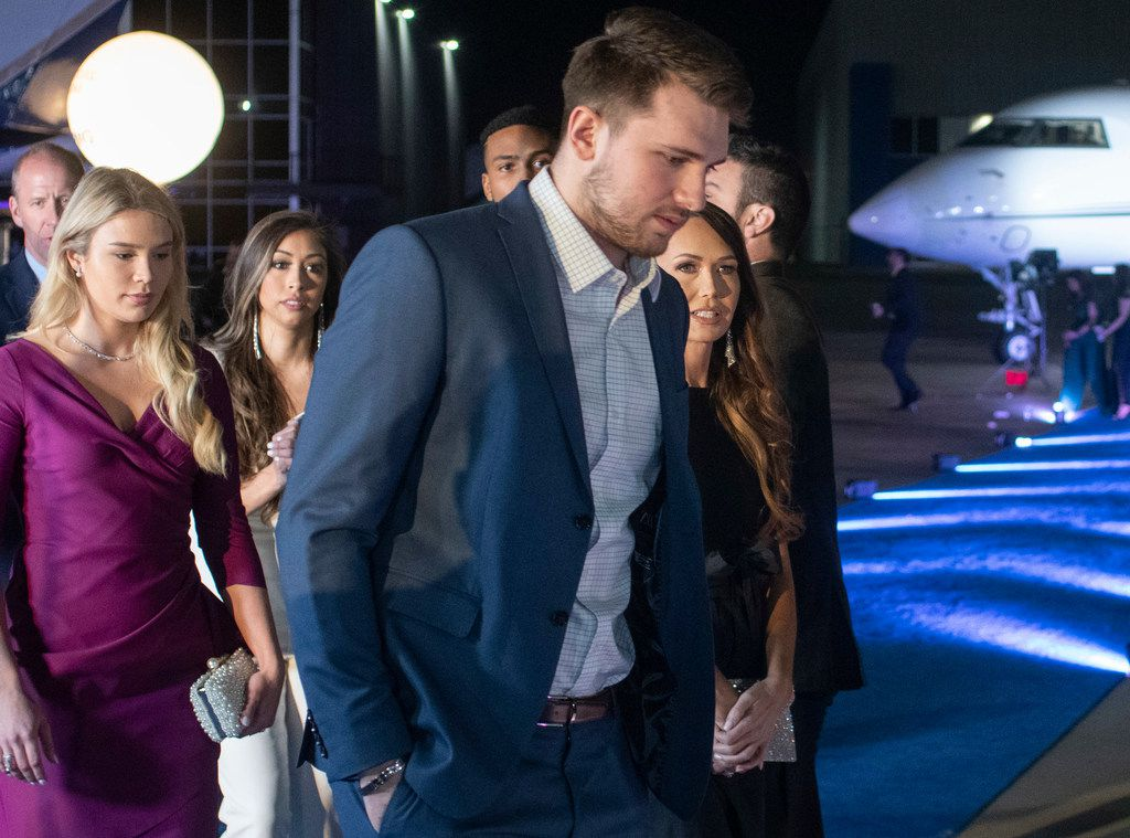 Mavs player Luka Doncic walks across the blue carpet prior to the Mavs Ball Million Air in Addison, Texas on March 7, 2020. (Robert W. Hart/Special Contributor)